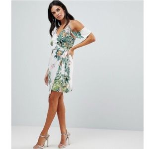 Adelyn Rae Prescilla Print Wrap Dress
